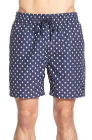 Jack Spade 'Grannis' Print Swim Trunks (navy)
